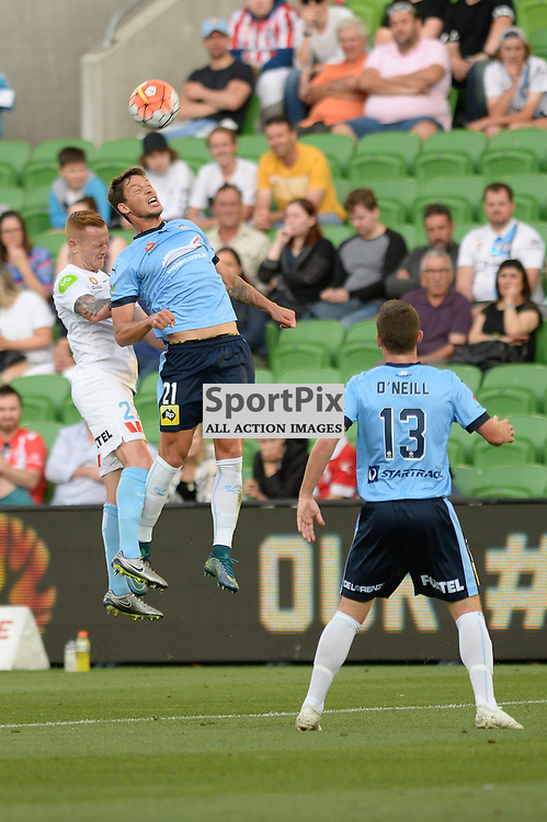 Jack Clisby of Melbourne City, Filip Holosko of Sydney FC - Hyundai A-League, January 2nd 2016, RD13 match between Melbourne City FC V Sydney FC at Aami Park, Melbourne, Australia in a 2:2 draw. © Mark Avellino | SportPix.org.uk