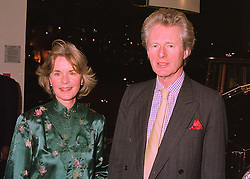 The EARL & COUNTESS OF MEXBOROUGH at a party in London on 4th March 1998.MFX 14