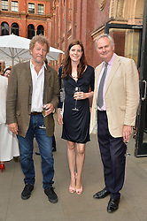 Left to right, SEBASTIAN FAULKES and WILLIAM & LADY LAURA CASH at the V&A Summer Party in association with Harrod's held at The V&A Museum, London on 22nd June 2016.