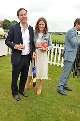 JAMIE & LOTTIE MURRAY WELLS at the Cartier Queen's Cup Polo final at Guard's Polo Club, Smiths Lawn, Windsor Great Park, Egham, Surrey on 14th June 2015
