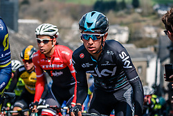 Peloton with HENAO Sebastián of Team Sky during the UCI WorldTour 103rd Liège-Bastogne-Liège from Liège to Ans with 258 km of racing at Cote de Saint-Roch, Belgium, 23 April 2017. Photo by Pim Nijland / PelotonPhotos.com | All photos usage must carry mandatory copyright credit (Peloton Photos | Pim Nijland)