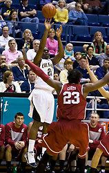 February 13, 2010; Berkeley, CA, USA;  California Golden Bears forward Theo Robertson (24) shoots over Washington State Cougars forward DeAngelo Casto (23) during the first half at the Haas Pavilion.  California defeated Washington State 86-70.