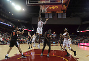 Dec 19, 2017; Los Angeles, CA, USA; Southern California Trojans forward Chimezie Metu (4) shoots the ball against the Princeton Tigers during an NCAA basketball game at Galen Center. Princeton defeated USC 103-93 in overtime.