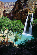 "On the Havasupai Indian Reservation, Havasu Falls, Creek, and Canyon flow into Grand Canyon, Arizona, USA. Published in ""Light Travel: Photography on the Go"" book by Tom Dempsey 2009, 2010."