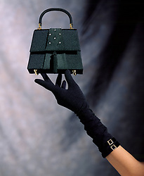 Woman's arm with evening purse