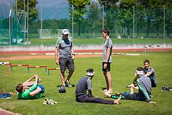 Training of Slovenian Ski Jumping team, on May 22th, 2017 in Sports Park Kranj, Kranj, Slovenia. Photo by Ziga Zupan / Sportida