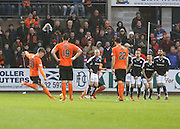 Dundee United&rsquo;s Blair Spittal opens the scoring with a great free kick - Dundee v Dundee United, Ladbrokes Premiership at Dens Park<br /> <br />  - &copy; David Young - www.davidyoungphoto.co.uk - email: davidyoungphoto@gmail.com
