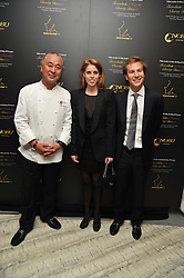 NOBU MATSUHISA, PRINCESS BEATRICE and DAVE CLARK at the second night of the Tomodachi (Friends) Charity Dinners hosted by Chef Nobu Matsuhisa in aid of the Japanese committee for UNICEF held at Nobu Berkeley, Berkeley Street, London on 5th May 2011.