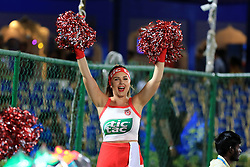 May 8, 2018 - Jaipur, Rajasthan, India - Kings XI Punjab cheerleaders  during the IPL T20 match against Rajasthan Royals at Sawai Mansingh Stadium in Jaipur,Rajasthan,India on 8th May,2018.(Photo By Vishal Bhatnagar/NurPhoto) (Credit Image: © Vishal Bhatnagar/NurPhoto via ZUMA Press)