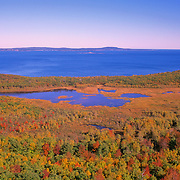 View from a hiking trail. Acadia National Park. Mount Desert Island. Maine