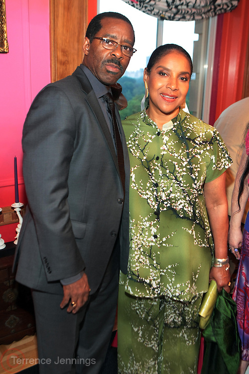 New York, NY-July 9: (L-R) Courtney B. Vance and Actress Phylicia Rashad attends the Inclusion in the Arts Ceremony 1st Annual Champion of Diversity Award hosted by Loreen Arbus and sponsored by Walt Disney Studios held at the Loreen Arbus Residence on July 9, 2013 in New York City. ©Terrence Jennings