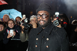 Will.i.am arriving for The Voice UK auditions at The Voice UK Dock 10, Media City Blue, Salford, Manchester.