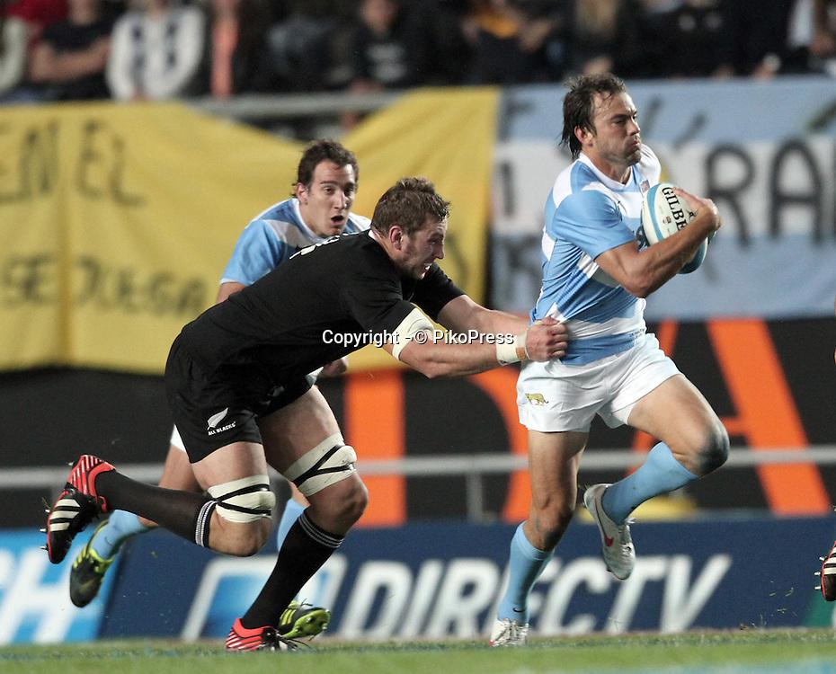 RUGBY CHAMPIONSHIP<br /> Los Pumas (ARG) 15 Vs. All Blacks (New Zeland) 54<br /> La Plata Stadium - Bs.As. Argentina- September 29, 2012<br /> Argentine JUAN MARTIN HERNANDEZ<br /> &not;&copy; PikoPress