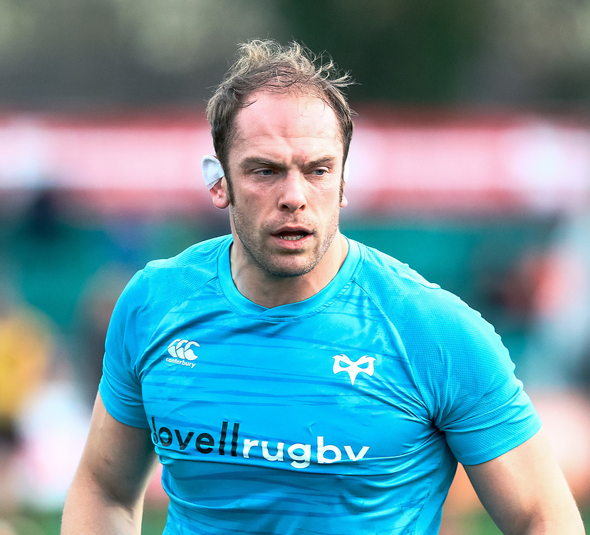 Alun Wyn Jones of Ospreys during the pre match warm up<br /> <br /> Photographer Simon King/Replay Images<br /> <br /> Guinness PRO14 Round 12 - Dragons v Ospreys - Sunday 30th December 2018 - Rodney Parade - Newport<br /> <br /> World Copyright © Replay Images . All rights reserved. info@replayimages.co.uk - http://replayimages.co.uk
