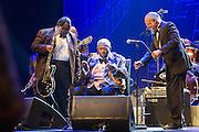 B.B. King bei einem Auftritt im Kraftwerk der Autostadt in Wolfsburg im Rahmen des Movimentos Festivals.