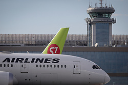 May 27, 2017 - Civil jet airplanes of S7 Airlines and JAL at Domodedovo airport, Moscow Region, Russia  (Credit Image: © Russian Look via ZUMA Wire)