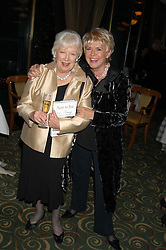 Left to right, JUNE WHITFIELD and GLORIA HUNNIFORD at a party to celebrate the publication of 'Next To You' - Caron's Courage remembered by her mother Gloria Hunniford held on Caron's birthday at The Hilton Park Lane, London on 5th Octobe 2005.<br /><br />NON EXCLUSIVE - WORLD RIGHTS