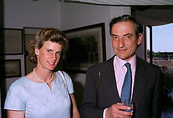 MR & MRS LUCA CUMANI he is the trainer, at a race meeting in Sussex on 29th July 1997.MAS 38
