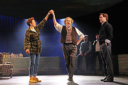 Katrina Bryan, Julian Forsyth and Damian Humbley performing a scene from Local Hero which opens at the Lyceum Theatre. pic copyright Terry Murden @edinburghelitemedia