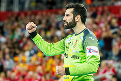 Gonzalo Perez De Vargas (ESP) during handball match between National teams of France and Spain in Half Final match of Men's EHF EURO 2018, on January 26, 2018 in Arena Zagreb, Zagreb, Croatia. Photo by Ziga Zupan / Sportida