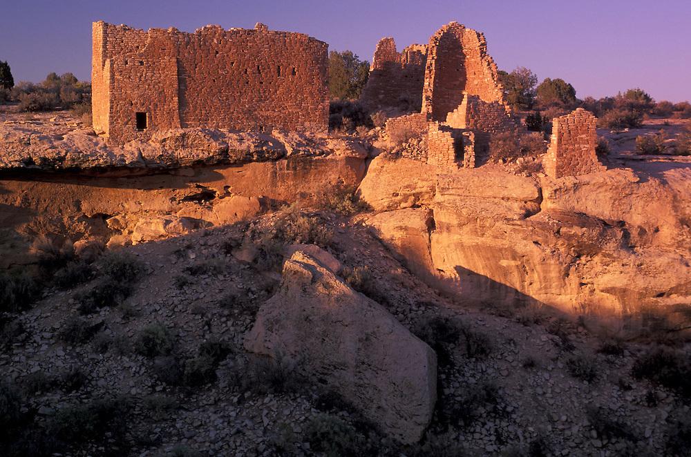 Hovenweep Castle, Little Ruin Canyon, Hovenweep National Monument, Colorado Plateau, Utah, USA