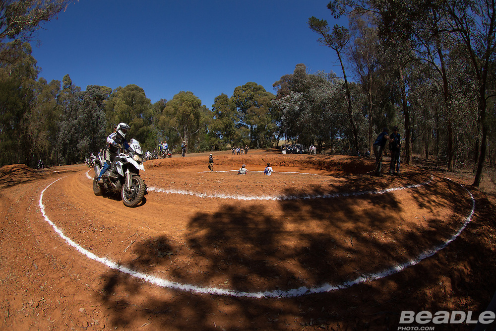 Jennifer Huntley from Wales (Great Britain) participating in the inaugural GS Trophy Female qualifying event at the 2015 BMW Motorrad GS Trophy Female Team Qualifying Event held at Countrytrax Amersfoort, South Africa. Image by Greg Beadle