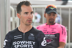 September 15, 2017 - Chenghu City, China - Joseph Cooper from Isowhey Sports Swisswellness team awaiting for the Award Ceremony after he wins the fourth stage of the 2017 Tour of China 1, the 3.3 km Chenghu Jintang individual time trial. .On Friday, 15 September 2017, in Jintang County, Chenghu City,  Sichuan Province, China. (Credit Image: © Artur Widak/NurPhoto via ZUMA Press)