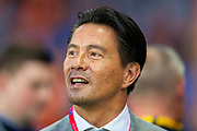 Former Rangers and Feyenoord striker Michael Mols on the pitch before the Europa League match between Rangers FC and Feyenoord Rotterdam at Ibrox Stadium, Glasgow, Scotland on 19 September 2019.