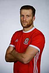 NANNING, CHINA - Saturday, March 24, 2018: Wales' Adam Matthews during a squad photo shoot at the Wanda Realm Hotel on day five of the 2018 Gree China Cup International Football Championship. (Pic by David Rawcliffe/Propaganda)