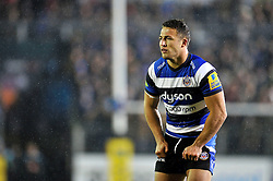 Sam Burgess of Bath Rugby looks on on the occasion of his Bath and rugby union debut - Photo mandatory by-line: Patrick Khachfe/JMP - Mobile: 07966 386802 28/11/2014 - SPORT - RUGBY UNION - Bath - The Recreation Ground - Bath Rugby v Harlequins - Aviva Premiership