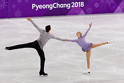 February 15, 2018 - Gangneung, South Korea - Ice skaters Alexa Scimeca Knierim and Chris Knierim of USA perform during the Pairs Figure Skating Free Skating at the PyeongChang 2018 Winter Olympic Games at Gangneung Ice Arena on Thursday February 15, 2018. (Credit Image: © Paul Kitagaki Jr. via ZUMA Wire)