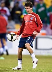 United States midfielder Jose Francisco Torres (17) before the Mexico game.  The United States men's soccer team defeated the Mexican national team 2-0 in CONCACAF final group qualifying for the 2010 World Cup at Columbus Crew Stadium in Columbus, Ohio on February 11, 2009.