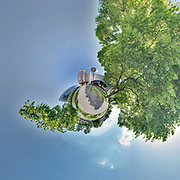Tiny Planet of the European Parliament in Strasbourg.<br /> Credit: Paul Marnef / Isopix