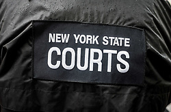 August 7, 2017 - New York City, New York, United States of America - Jacket of a New York State Court Officer (Credit Image: © Sachelle Babbar via ZUMA Wire)