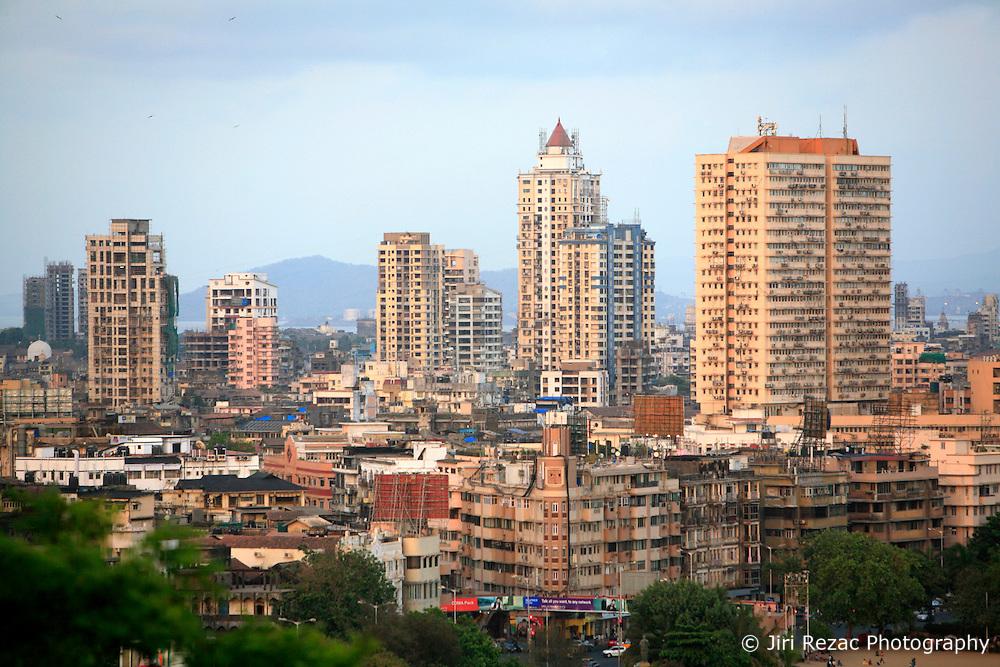 INDIA MUMBAI 28MAY10 - General view of Chowpatti and Marina Drive and the Mumbai skyline from Malabar Hill in Mumbai, India...jre/Photo by Jiri Rezac..© Jiri Rezac 2010