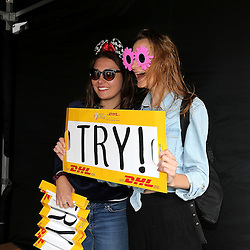 Photo booth fans at the 2017 HSBC World Sevens Series Wellington day two at Westpac Stadium in Wellington, New Zealand on Sunday, 29 January 2017. Photo: Martin Hunter / lintottphoto.co.nz