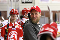 2020-02-12 | Ljungby, Sweden: Troja-Ljungby equipment manager Marcus Andersson during the game between IF Troja / Ljungby and Huddinge IK at Ljungby Arena ( Photo by: Fredrik Sten | Swe Press Photo )<br /> <br /> Keywords: Ljungby, Icehockey, HockeyEttan, Ljungby Arena, IF Troja / Ljungby, Huddinge IK, fsth200212, ATG HockeyEttan, Allettan