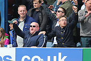 Bury fans celebrating during the EFL Sky Bet League 1 match between Southend United and Bury at Roots Hall, Southend, England on 30 April 2017. Photo by Matthew Redman.