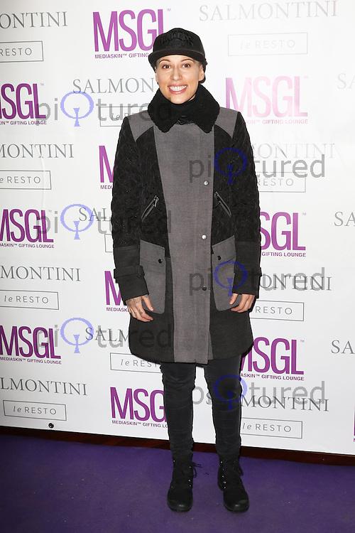 Courtney Rumbold, MediaSkin Gifting Lounge, Salmontini Le Resto, London UK, 19 January 2015, Photo by Richard Goldschmidt