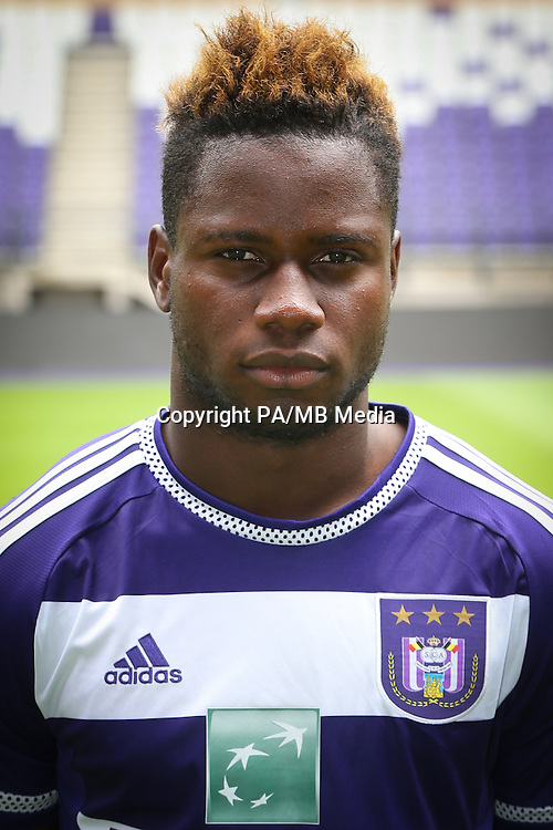 Anderlecht's Nathan Kabasele pictured during the 2015-2016 season photo shoot of Belgian first league soccer team RSC Anderlecht, Tuesday 14 July 2015 in Brussels.