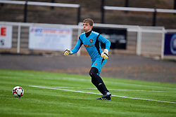 MERTHYR TYDFIL, WALES - Thursday, November 2, 2017: Newport County's goalkeeper Callum Brain during an Under-18 Academy Representative Friendly match between Wales and Newport County at Penydarren Park. (Pic by David Rawcliffe/Propaganda)