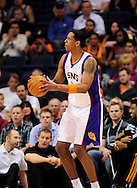 Jan. 2, 2012; Phoenix, AZ, USA; Phoenix Suns forward Channing Frye (8) reacts on the court against the Golden State Warriors at the US Airways Center. The Suns defeated the Warriors 102-91. Mandatory Credit: Jennifer Stewart-US PRESSWIRE..