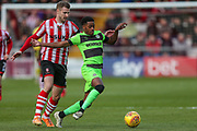 Forest Green Rovers Reece Brown(10) during the EFL Sky Bet League 2 match between Lincoln City and Forest Green Rovers at Sincil Bank, Lincoln, United Kingdom on 3 November 2018.