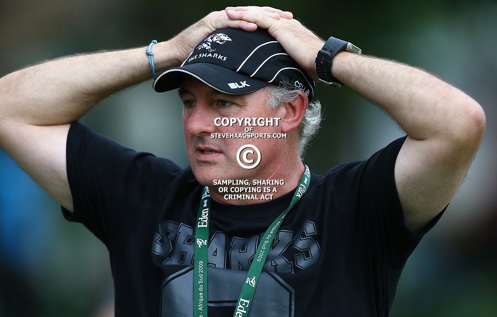 DURBAN, SOUTH AFRICA - FEBRUARY 24: Gary Gold (Sharks Director of Rugby) during the Cell C Sharks interview and  training session at Growthpoint Kings Park on February 24, 2015 in Durban, South Africa. (Photo by Steve Haag)