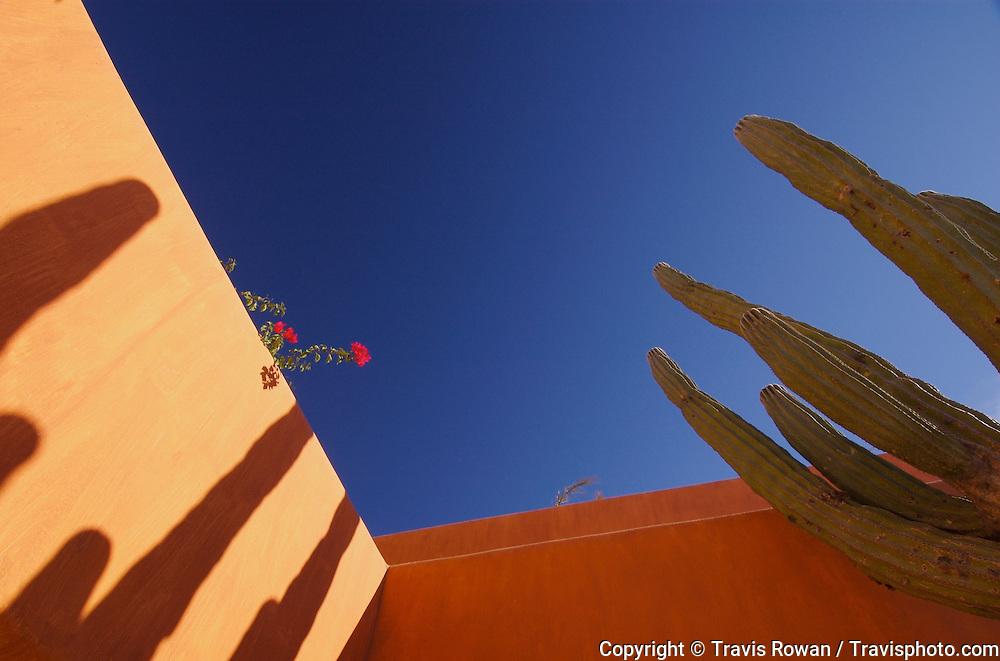 Resort architectural detail on the Baja California Peninsula, Mexico.