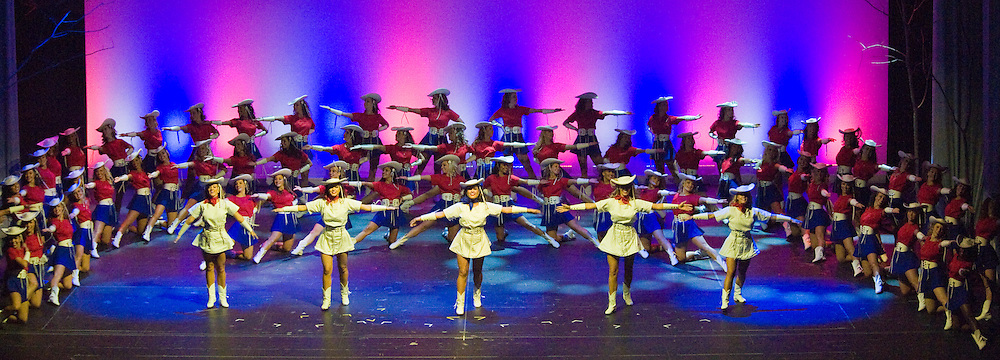 The Kilgore Rangerettes perform at the Texas Medal of Arts Awards, Austin Texas, April 7, 2009. The Texas Medal of Arts Awards is a celebration by the Texas Cultural Trust of the finest in Texas artists. The Kilgore Rangerettes are a precision drill team based at Kilgore College in Kilgore Texas.