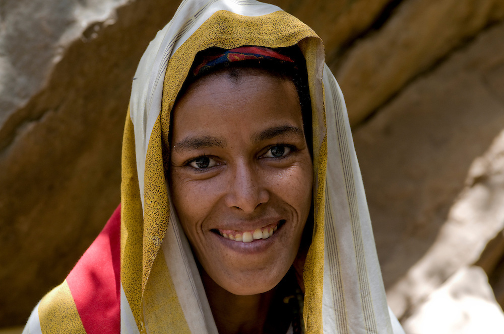 Young muslim woman in Sof Omar wearing a veil, Ethiopia,Africa