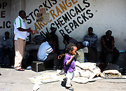 Thembalethu sports coordinator Elliot Hluthwa on an outreach session in downtown Johannesburg on Wednesday 21 October 2009. He invites the street kids to Drill Hall to engage in some sports together with school going children in the inner city. Although Drill Hall has limited space, Elliot prefers the children to be playing rather than be on the streets as they are more likely to abuse drugs and engage in criminal activities.