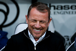 Derby County manager Gary Rowett smiles - Mandatory by-line: Robbie Stephenson/JMP - 11/05/2018 - FOOTBALL - Pride Park Stadium - Derby, England - Derby County v Fulham - Sky Bet Championship