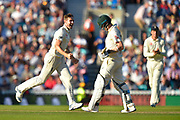 Wicket - Chris Woakes of England celebrates taking the wicket of Steve Smith of Australia during the 5th International Test Match 2019 match between England and Australia at the Oval, London, United Kingdom on 13 September 2019.